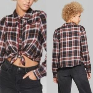 NWT Wild Fable Western Plaid Shirt Size S